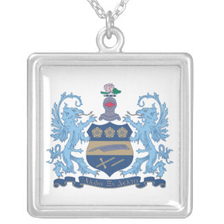 Alpha Xi Delta Crest Color Silver Plated Necklace