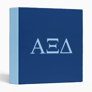 Alpha Xi Delta Lil Big Logo 3 Ring Binder