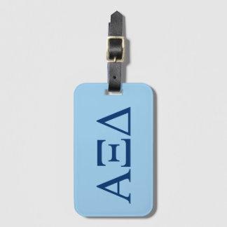 Alpha Xi Delta Lil Big Logo Luggage Tag