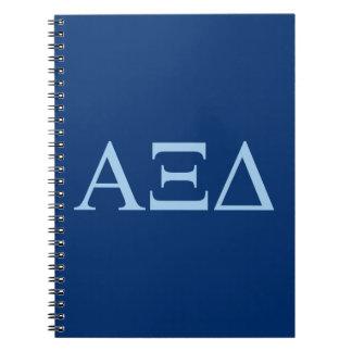 Alpha Xi Delta Lil Big Logo Notebook