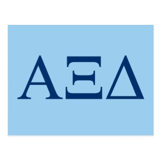 Alpha Xi Delta Lil Big Logo Postcard