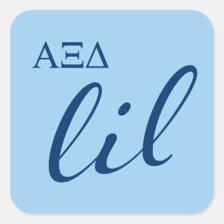 Alpha Xi Delta Lil Script Square Sticker