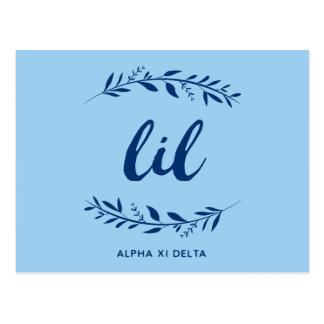 Alpha Xi Delta Lil Wreath Postcard