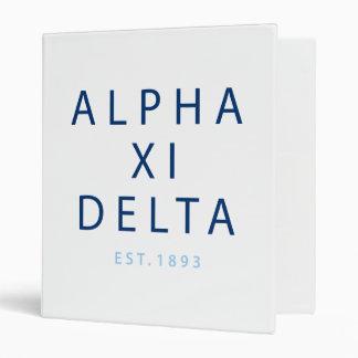 Alpha Xi Delta Modern Type Binder