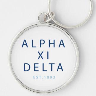 Alpha Xi Delta Modern Type Keychain