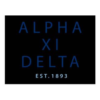 Alpha Xi Delta Modern Type Postcard