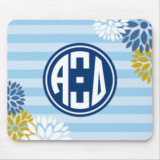 Alpha Xi Delta | Monogram Stripe Pattern Mouse Pad
