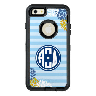 Alpha Xi Delta | Monogram Stripe Pattern OtterBox Defender iPhone Case