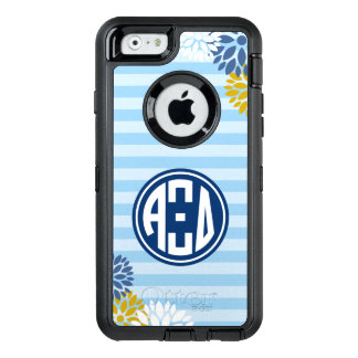 Alpha Xi Delta   Monogram Stripe Pattern OtterBox Defender iPhone Case