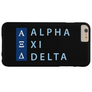 Alpha Xi Delta Stacked Barely There iPhone 6 Plus Case