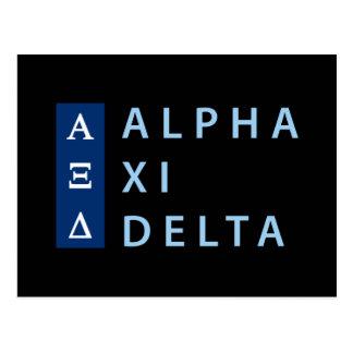Alpha Xi Delta Stacked Postcard
