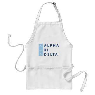 Alpha Xi Delta Stacked Standard Apron