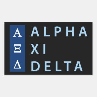 Alpha Xi Delta Stacked Sticker
