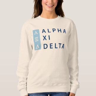 Alpha Xi Delta Stacked Sweatshirt