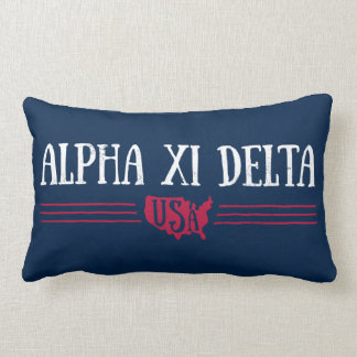 Alpha Xi Delta USA Lumbar Pillow