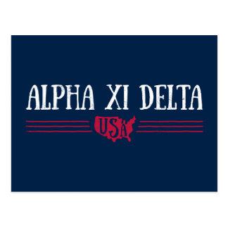 Alpha Xi Delta USA Postcard
