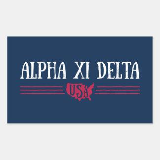 Alpha Xi Delta USA Sticker
