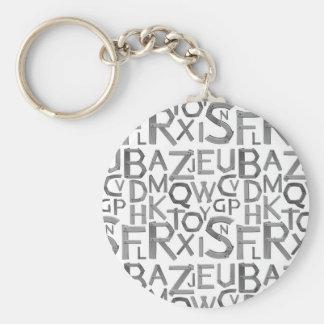 """Alphabet 2.25"""" Basic Button Keychain"""