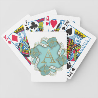 alphabet A monogram Bicycle Playing Cards