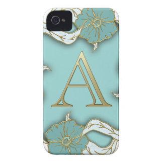 alphabet A monogram Case-Mate iPhone 4 Cases
