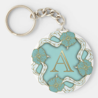 alphabet A monogram Keychain