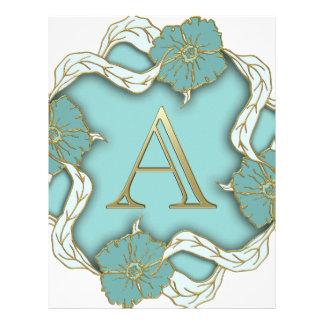 alphabet A monogram Letterhead