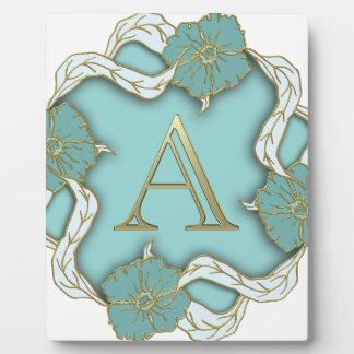 alphabet A monogram Plaque
