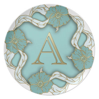 alphabet A monogram Plate