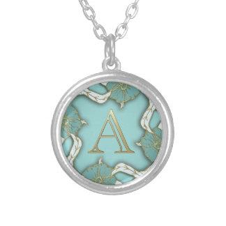 alphabet A monogram Silver Plated Necklace