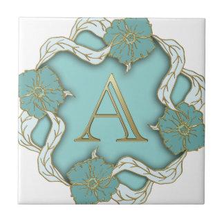 alphabet A monogram Tile