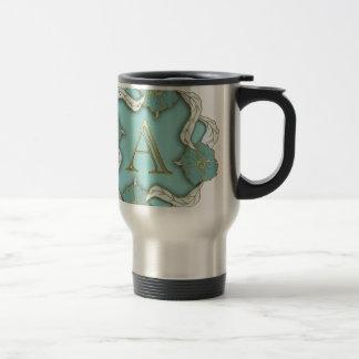 alphabet A monogram Travel Mug