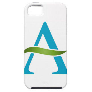 Alphabet A with a green leaf iPhone 5 Cover