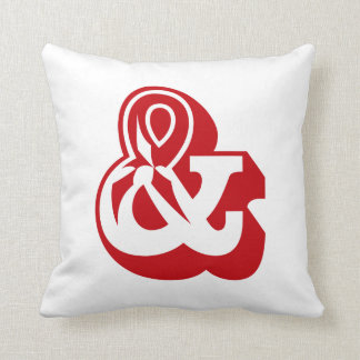 "Alphabet Ampersand ""AND"" & English ABC Throw Pillow"
