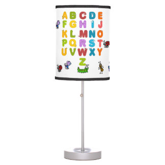 Alphabet and Garden Animals Table Lamp