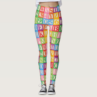 Alphabet and Numbers Leggings