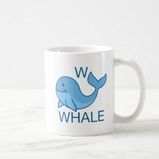 Alphabet Animal Series - W Is For Whale Coffee Mug