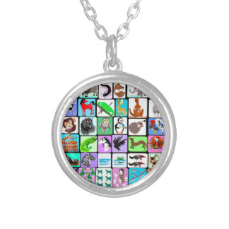 alphabet animals 3 silver plated necklace