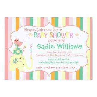 Alphabet Animals Baby Shower Invitation