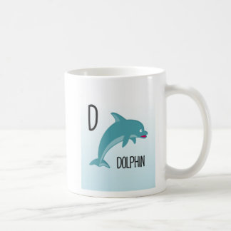 Alphabet Animals - D Is For Dolphin Coffee Mug