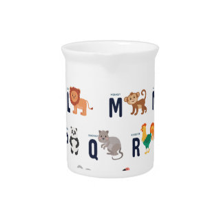 Alphabet Animals - super cute! Beverage Pitcher
