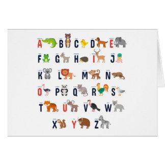 Alphabet Animals - super cute! Card