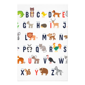 Alphabet Animals - super cute! Custom Stationery