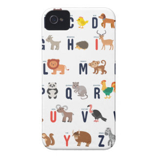 Alphabet Animals - super cute! iPhone 4 Case