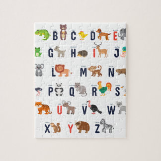 Alphabet Animals - super cute! Jigsaw Puzzle