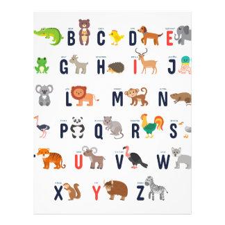 Alphabet Animals - super cute! Letterhead Template