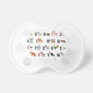 Alphabet Animals - super cute! Pacifier