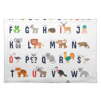 Alphabet Animals - super cute! Place Mats