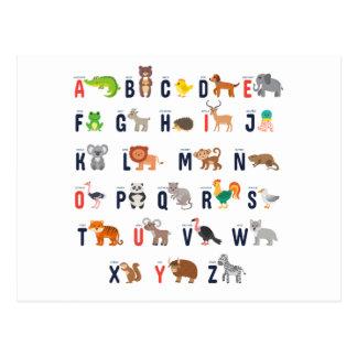 Alphabet Animals - super cute! Postcard