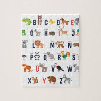 Alphabet Animals - super cute! Puzzle