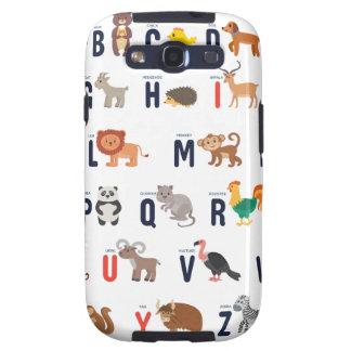 Alphabet Animals - super cute! Samsung Galaxy SIII Covers